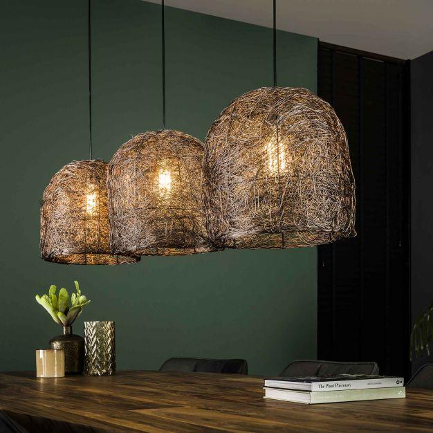 Vico Haystack - hanglamp 3L - 132 x 32 x 150 cm - antiek koper (laatste stuk!)