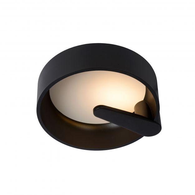 Lucide Miami - plafondverlichting - Ø 30 x 10,5 cm - 12W dimbare LED incl. - zwart