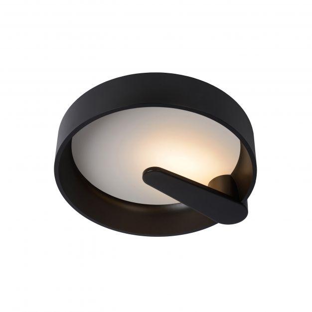 Lucide Miami - plafondverlichting - Ø 40 x 10,5 cm - 15W dimbare LED incl. - zwart