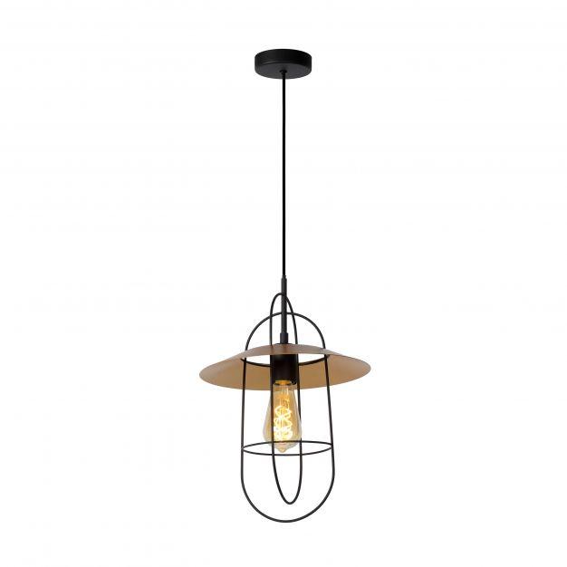 Lucide Masson - hanglamp - Ø 28 x 170 cm - mat goud