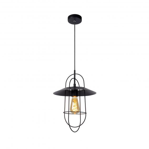 Lucide Masson - hanglamp - Ø 28 x 170 cm - zwart
