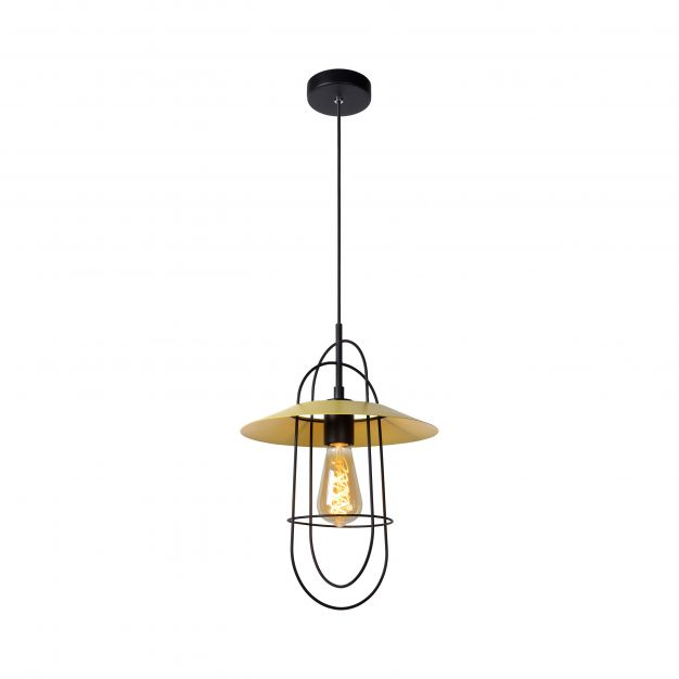 Lucide Masson - hanglamp - Ø 28 x 170 cm - geel