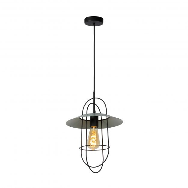 Lucide Masson - hanglamp - Ø 28 x 170 cm - turkoois