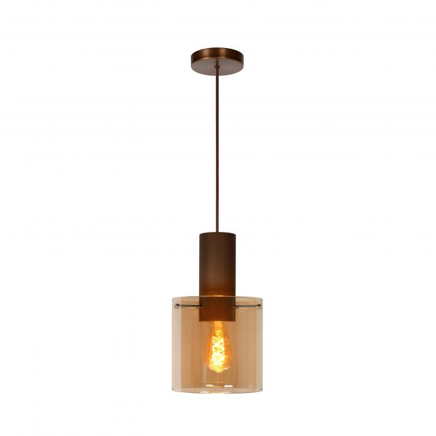 Lucide Toledo - hanglamp - Ø 20 x 165 cm - amber
