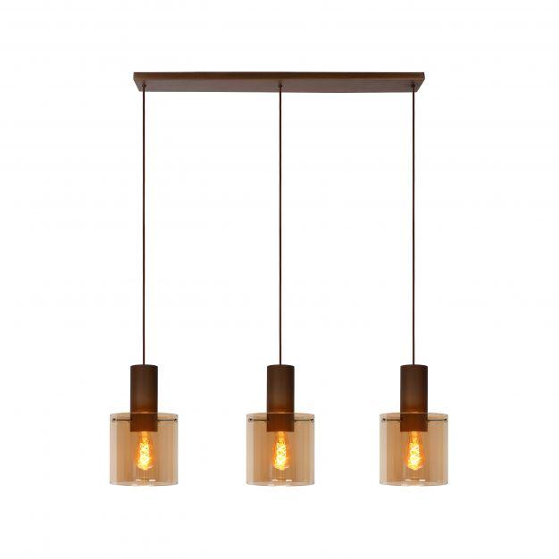 Lucide Toledo - hanglamp - 100 x 20 x 165 cm - amber