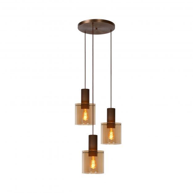 Lucide Toledo - hanglamp - Ø 50 x 165 cm - amber