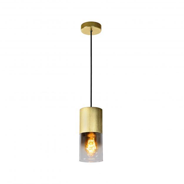 Lucide Zinp - hanglamp - Ø 10 x 153 cm - mat goud