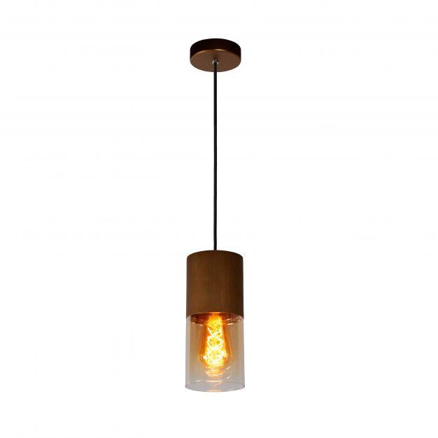 Lucide Zino - hanglamp - Ø 10 x 153 cm - amber