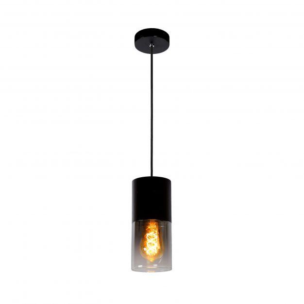 Lucide Zino - hanglamp - Ø 10 x 153 cm - zwart