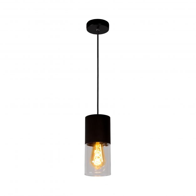 Lucide Zino - hanglamp - Ø 10 x 153 cm - roestbruin