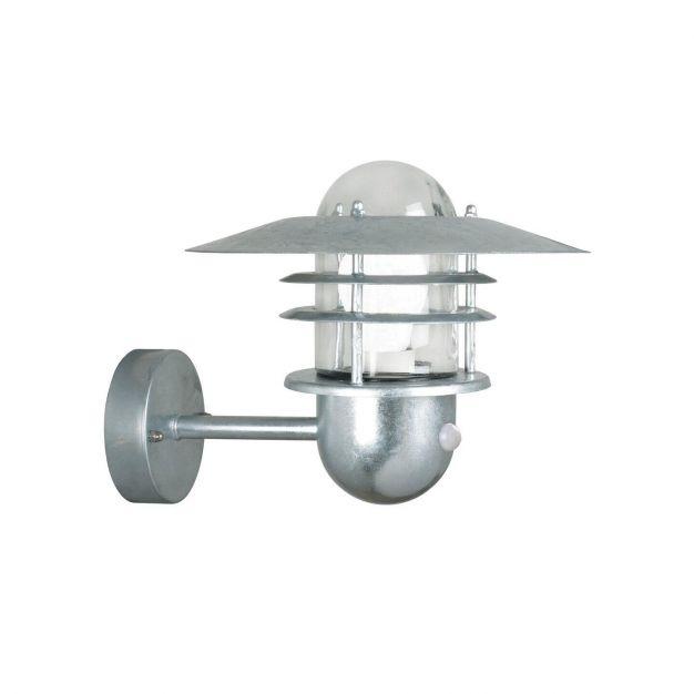 Nordlux Agger Sensor - buiten wandverlichting met bewegingsdetector - 29,5 x 29,5 x 20 cm - IP54 - gegalvaniseerd staal