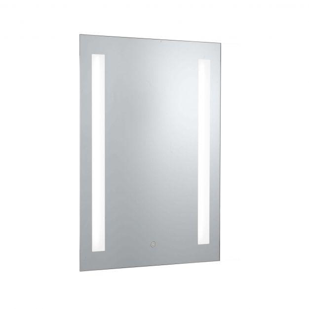 Searchlight Bathroom Mirrors - spiegel met verlichting - 50 x 70 cm - 5W LED incl. - IP44 - zilver