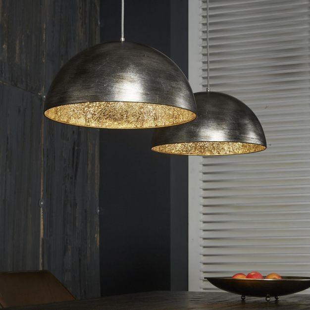 Vico Silvery Mirror - hanglamp - 110 x 40 x 150 cm - oud zilver