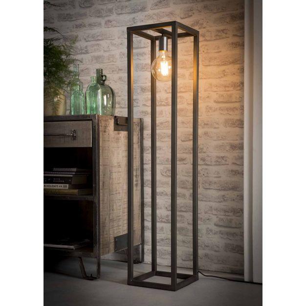 Vico Square Tube - staanlamp - Ø 25 x 120 cm - zilver