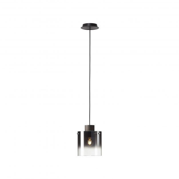 Brilliant Beth - hanglamp - Ø 20 x 120 cm - koffie en rookglas