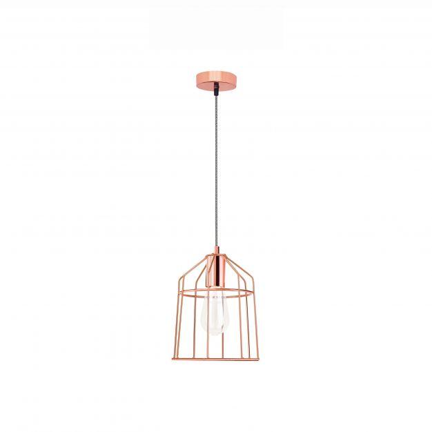 Nova Luce Peppino - hanglamp - Ø 19 x 120 cm - koper