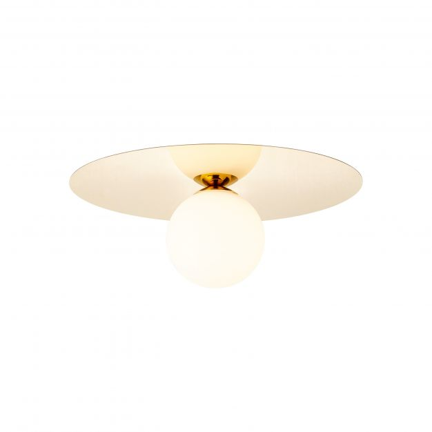 Brilliant Zondra - plafond/wandverlichting - Ø 30 x 13 cm - goud