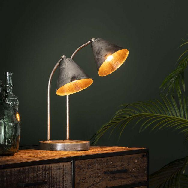 Vico Target Vintage - tafellamp 2L - 30 x 35 x 45 cm - oud zilver