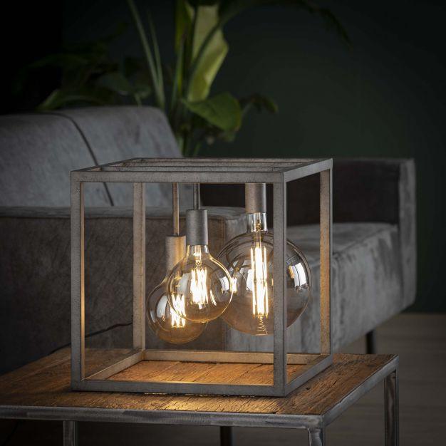 Vico Pilar - tafellamp -Ø 40 x 40 cm - oud zilver