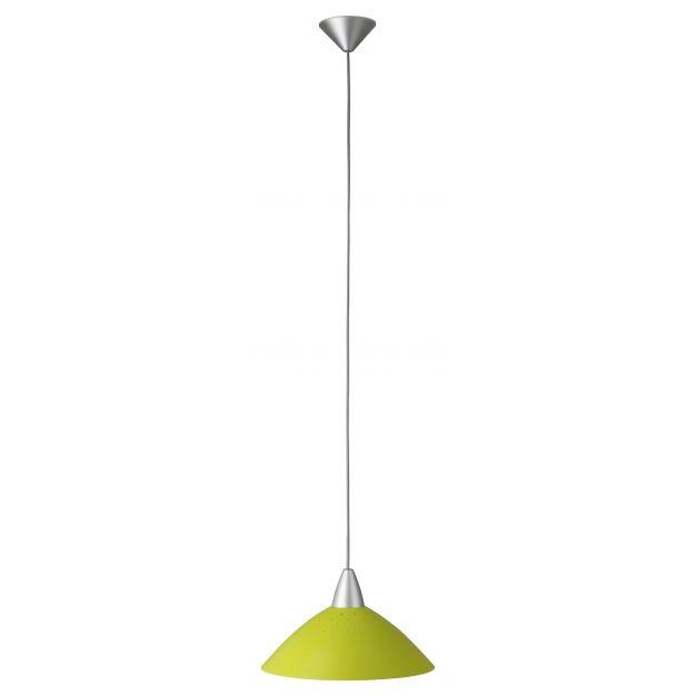 Brilliant Logas - hanglamp - Ø 35 x 120 cm - groen