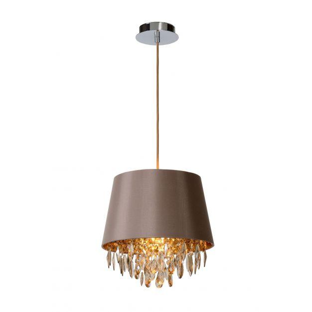 Lucide Dolti - hanglamp - Ø 30,5 x 139 cm - taupe
