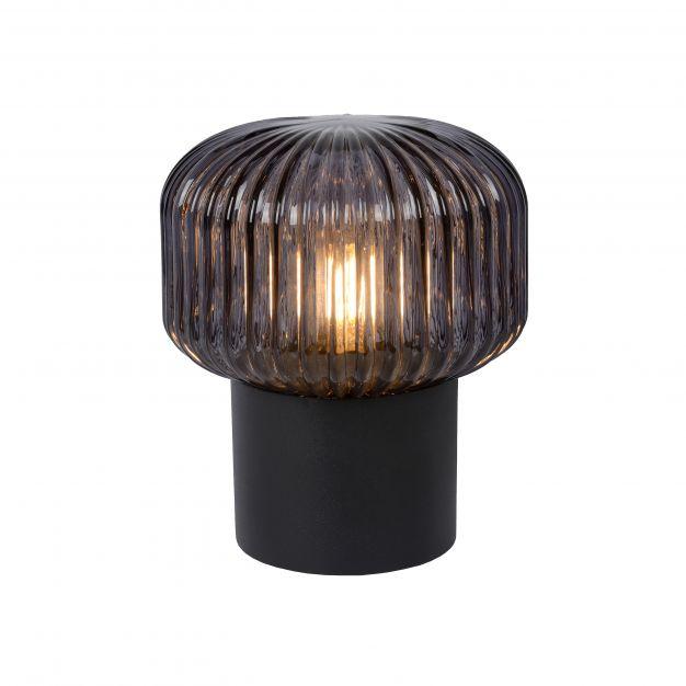 Lucide Jany - tafellamp - Ø 16 x 18 cm - zwart en rook grijs