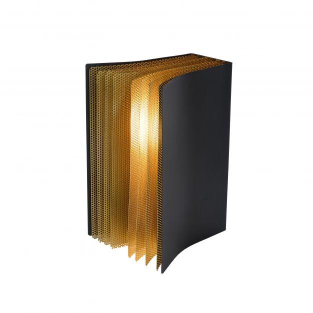 Lucide Extravaganza Livret - tafellamp - 16,5 x 15 x 22 cm - zwart en goud