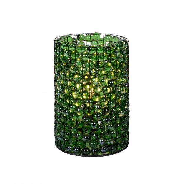 Lucide Extravaganza Marbelous - tafellamp - Ø 15 x 21 cm - groen