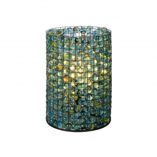 Lucide Extravaganza Marbelous - tafellamp - Ø 15 x 21 cm - transparant