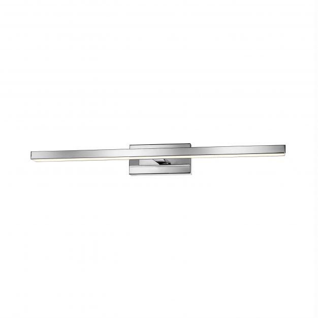 Nova Luce Modena - spiegellamp - 63 x 9 x 7,5 cm - 18W LED incl. - IP44 - chroom