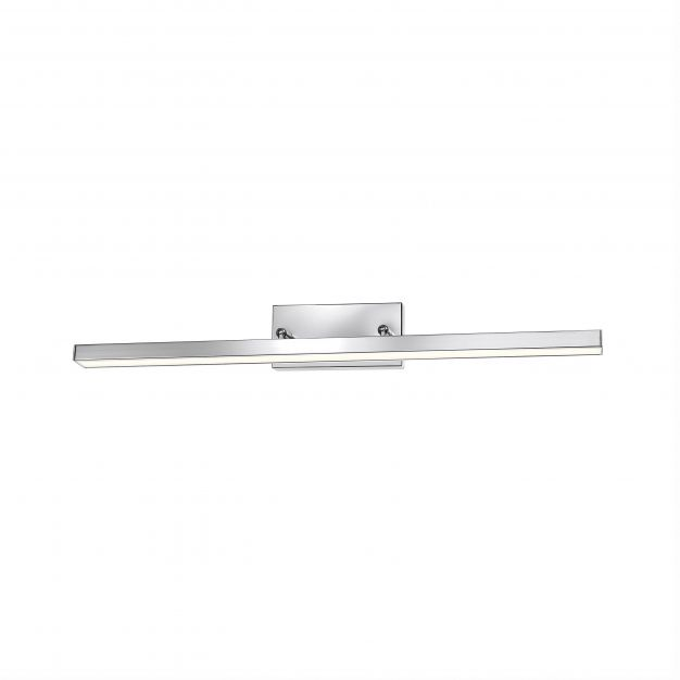 Nova Luce Modena - spiegellamp - 63 x 7,5 x 7,5 cm - 18W LED incl. - IP44 - chroom