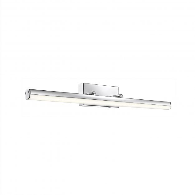 Nova Luce Vanese - spiegellamp - 63 x 7,5 x 7,5 cm - 18W LED incl. - IP44 - chroom