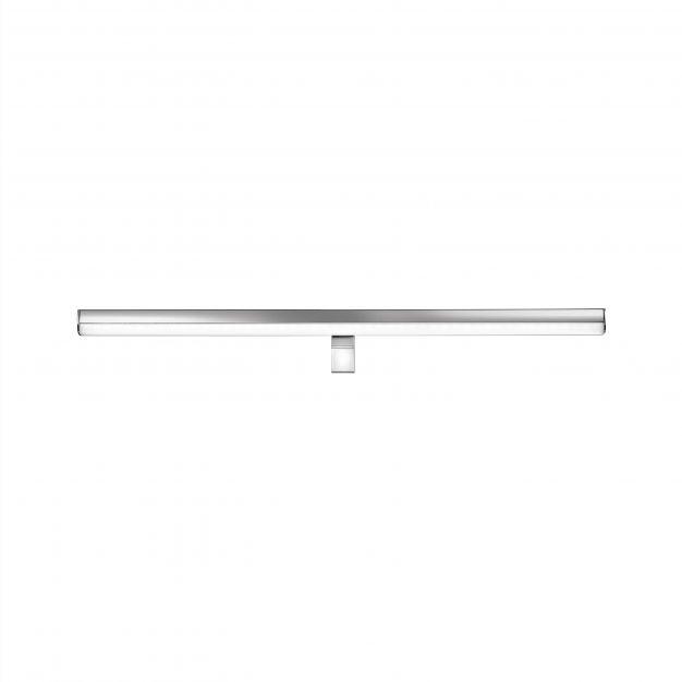 Nova Luce Vanese - spiegellamp - 63 x 6,5 x 6,5 cm - 18W LED incl. - IP44 - chroom