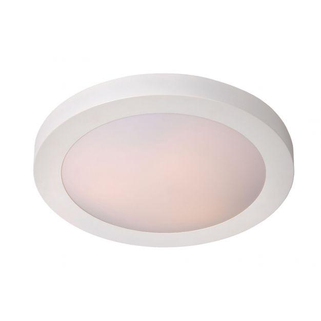Lucide Fresh - plafondverlichting - Ø 27 x 9 cm - IP44 - wit