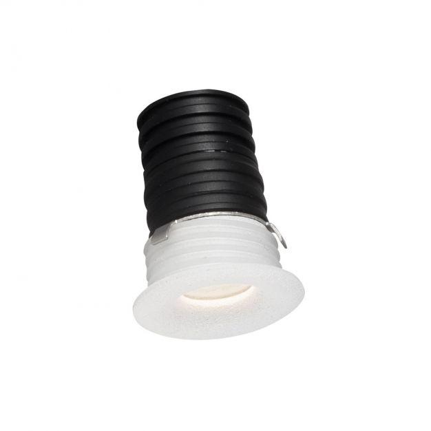 Nova Luce Tiny - inbouwspot - Ø 16 mm, Ø 12 mm inbouwmaat - 1W LED incl. - IP44 - wit