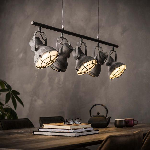 Vico Industrial Concrete - hanglamp - 120 x 16 x 150 cm - grijs