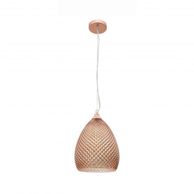 Nova Luce Boho - hanglamp - Ø 24 x 120 cm - rose goud