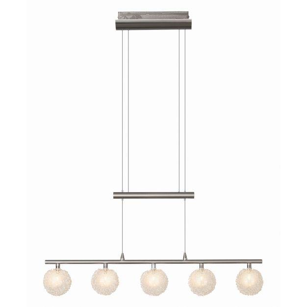 Bralis hanglamp 5 - satijn chroom