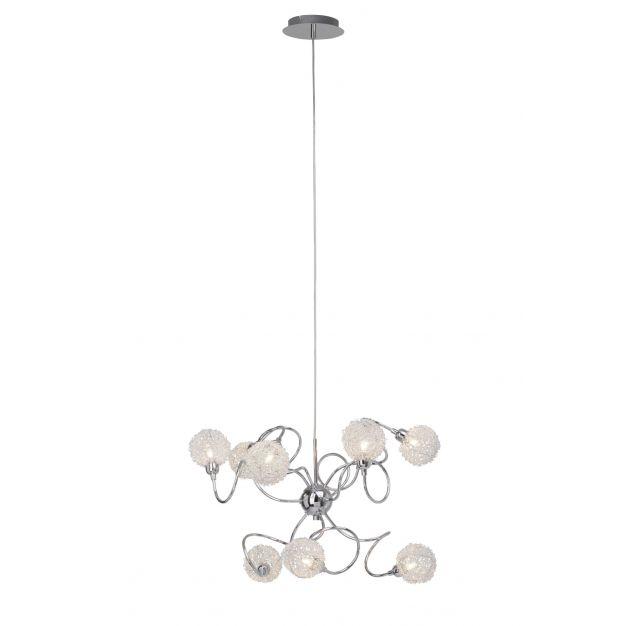 Bralis hanglamp 9 - satijn chroom