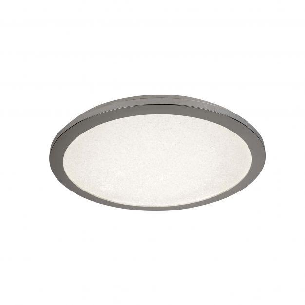 Searchlight LED Bathroom - plafondlamp badkamer - Ø 60 x 3,2 cm - 26W LED incl. - IP44 - chroom