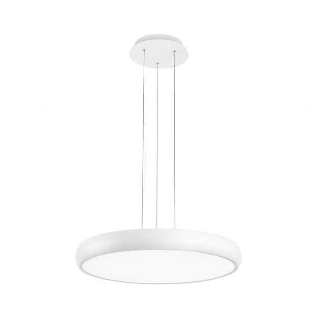 Nova Luce Gap - hanglamp - Ø 51 x 120 cm - 50W LED incl. - wit