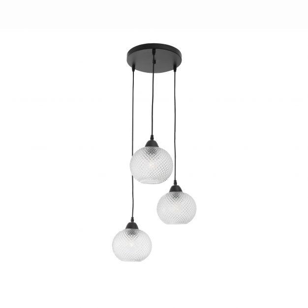 Nova Luce Porto - hanglamp - Ø 30 x 160 cm - transparant