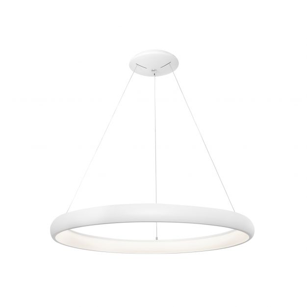 Nova Luce Albi - hanglamp - Ø 61 x 120 cm - 50W dimbare LED incl. - zandwit