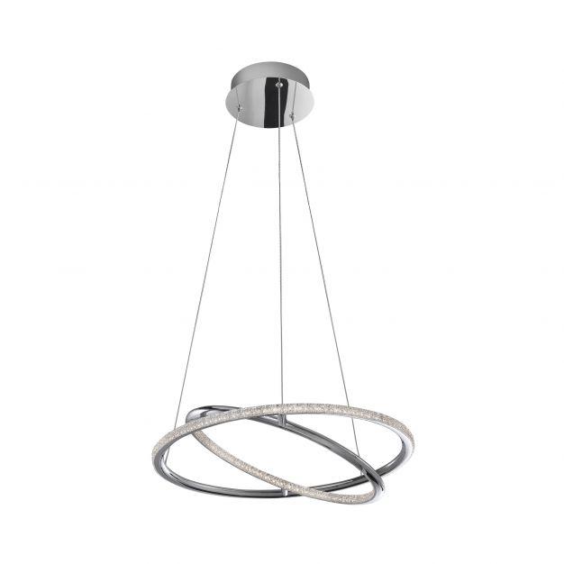 Nova Luce Livorno - hanglamp - Ø 45 x 120 cm - 29W LED incl. - chroom