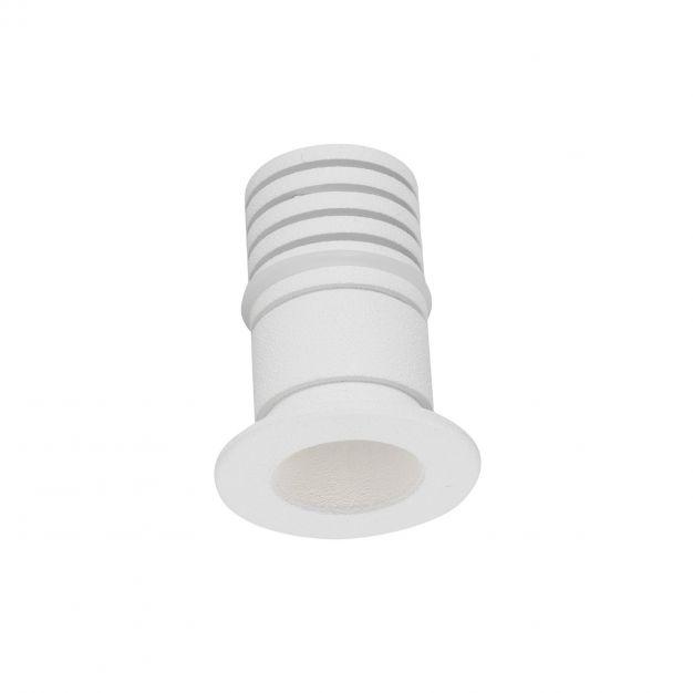 Nova Luce Tiny - inbouwspot - Ø 22 mm, Ø 16 mm inbouwmaat - 1W LED incl. - IP44 - wit