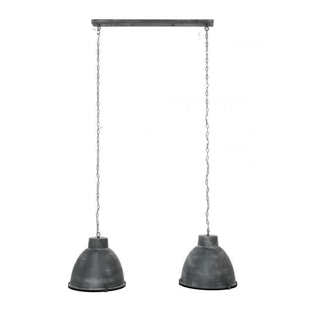 Vico Industry - hanglamp 2L - 125 x 43 x 150 cm - grijs