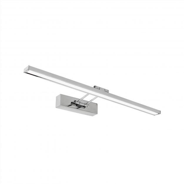 Nova Luce Rosa - spiegellamp - 57 x 4,5 x 19 cm - 18W LED incl. - IP44 - chroom