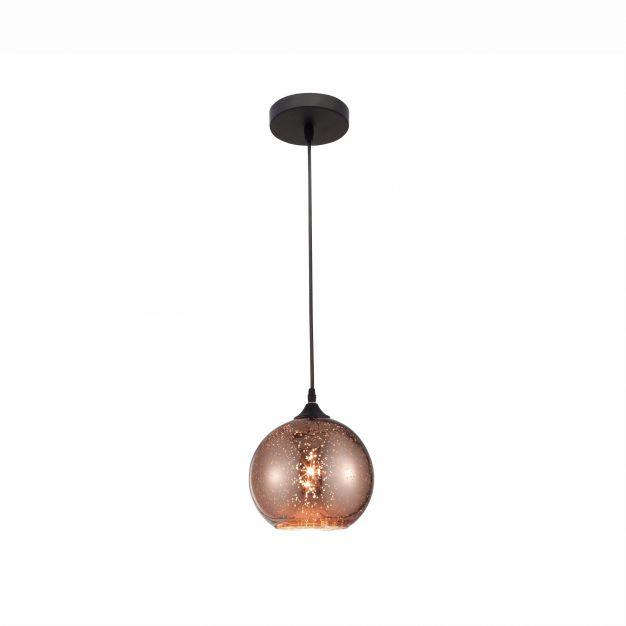 Nova Luce Blaze - hanglamp - Ø 18 x 130 cm - koper