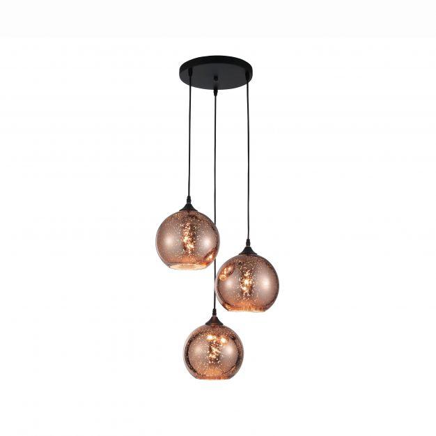 Nova Luce Blaze - hanglamp - Ø 35 x 155 cm - koper
