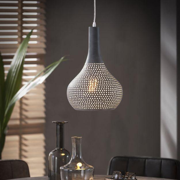Vico Perforated - hanglamp - Ø 25 x 150 cm - grijs